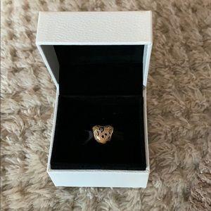 Pandora Cheetah Heart Charm